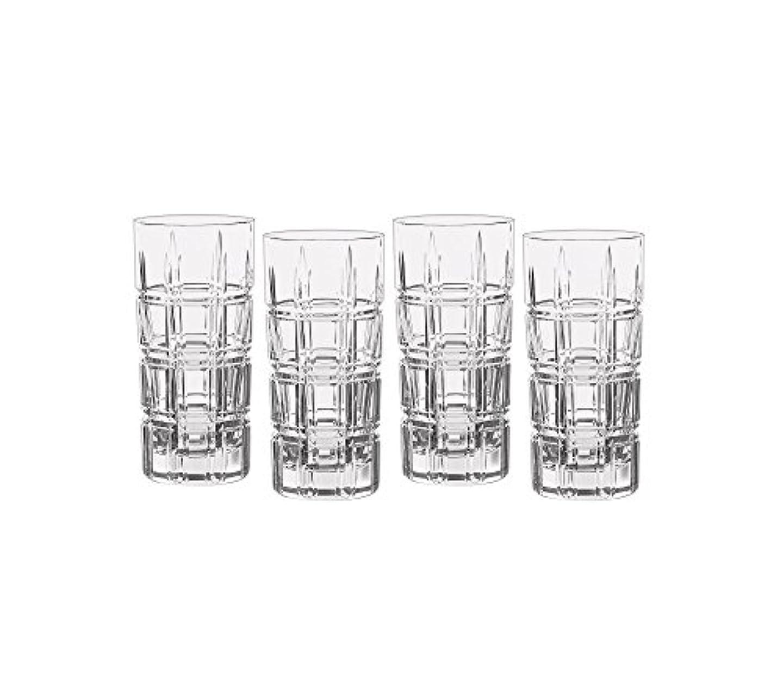 デンプシーパターン報復するMarquis by Waterford Crosby Plaidのセット4 Highball Glasses One Size 40007132