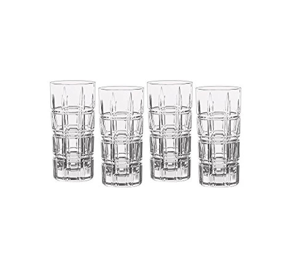 こねる悲しい典型的なMarquis by Waterford Crosby Plaidのセット4 Highball Glasses One Size 40007132