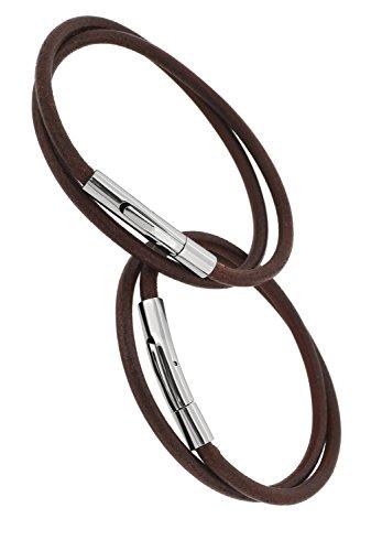 [해외][클로즈 투 미 `Close to me 스테인레스 조인트 가죽 이중 감기 쌍 팔찌 인기 브랜드 남성 여성 심플/[Closed to me] Close to me stainless steel joint leather double winding pair bracelet popular brand men`s ladies simple
