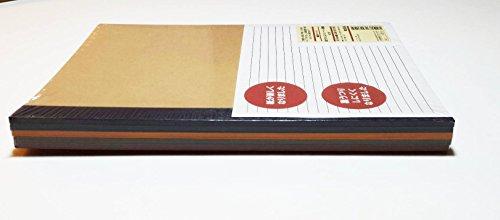 植林木ペーパー裏うつりしにくいノート5冊組 B5・30枚・6m...