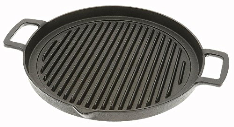 Iwachu Cast Iron Grill and Kalbi Pan, Black [並行輸入品]