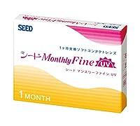 シードマンスリーUV 1箱6枚入 2箱セット ソフトコンタクトレンズ 【-6.50】