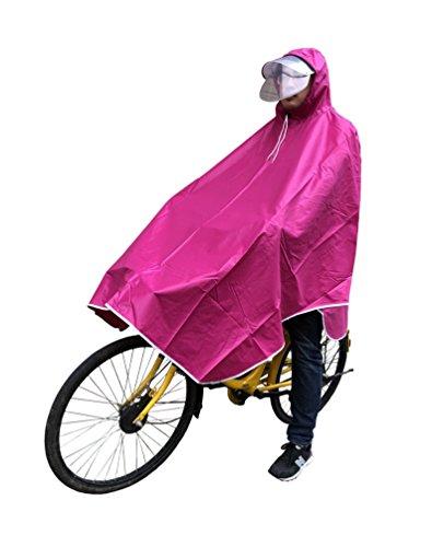 レインコート 自転車用 バイク用 リュック対応 収納袋付き ...