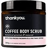 Thankyou Coffee Body Scrub Botanical Geranium & Rosewood - Exfoliating (300g)