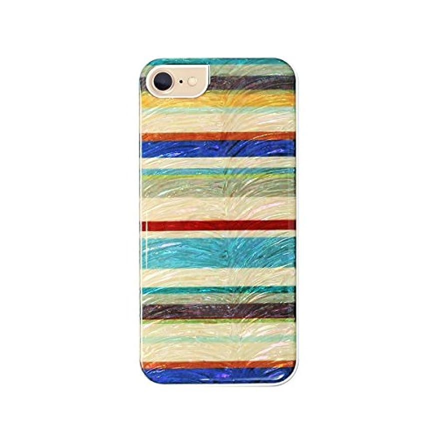 人白い生きるIkins 2020 iPhone SE / 8 / 7 ケース カバー 天然貝ケース Equator ホワイトフレーム アイフォン カバー【日本正規代理店品】