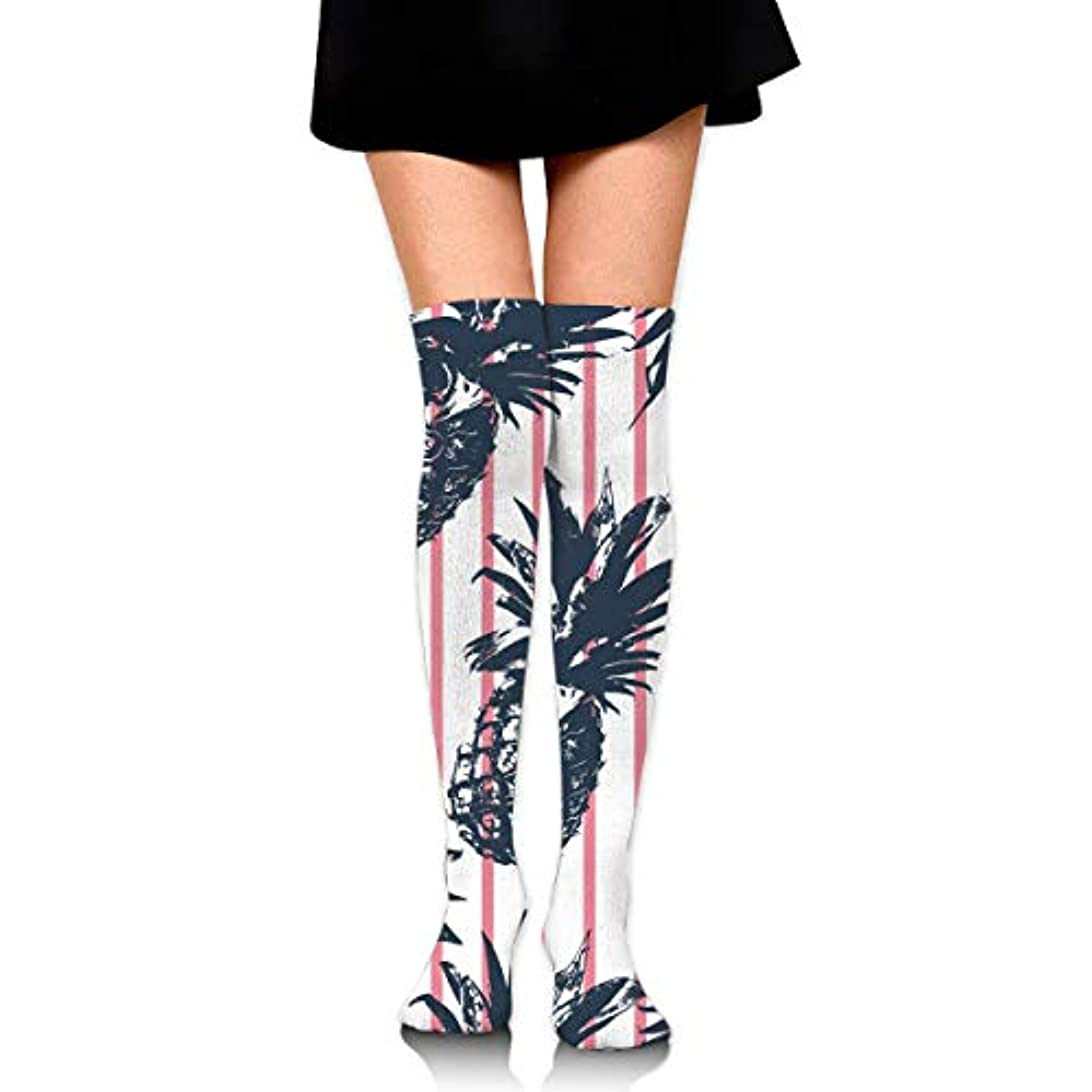 できないへこみボイコットMKLOS 通気性 圧縮ソックス Breathable Classic Warmer Tube Leg Stockings Tropical Plants Pineapple Funnny Exotic Psychedelic...