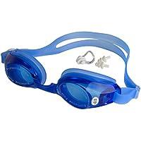 Vocni(ワクニー) 近視用 度付き くもり止め 防水 男女兼用 水中メガネ ノーズクリップ 耳栓 3点セット 水泳 競泳 スイミングゴーグル