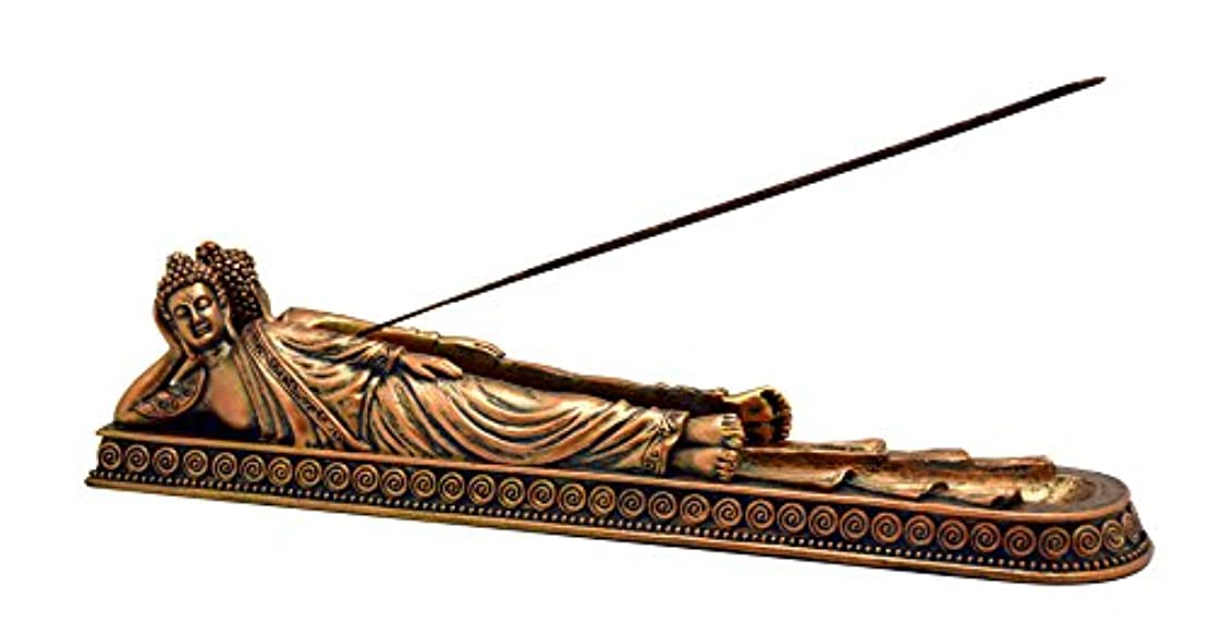 飲食店岩日焼けFantasy Buddha Lying Down BurnerポリレジンIncense Burner – 11