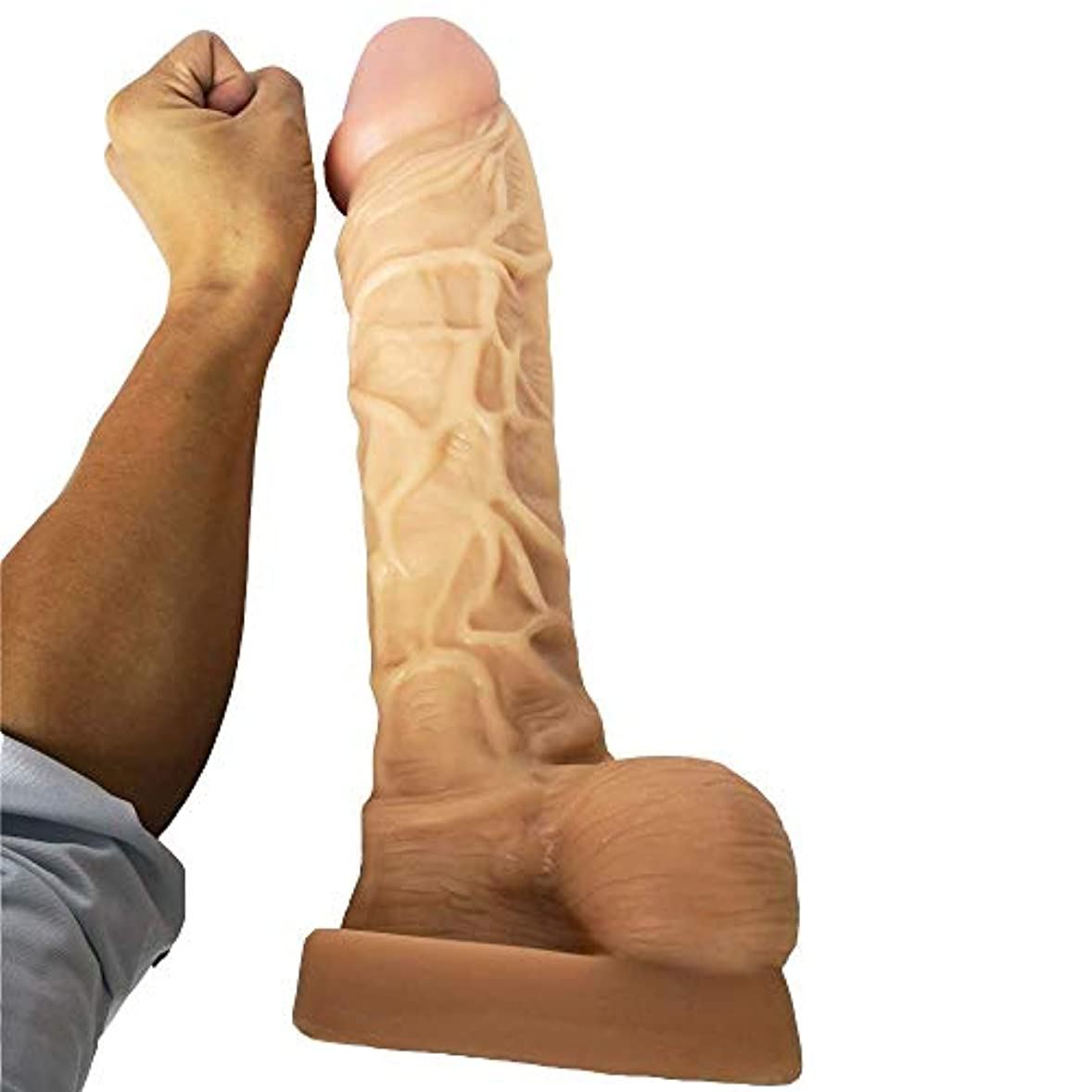 権限を与える反映する引っ張る大人の楽しみ/Realistic-DǐcksFemale Relax Extra Huge BigD-ǐl-dosInsert 15 Inch Lifelike Massager for Women、Oversized...