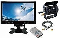 UD TRUCKS クオン 対応 12V/24V車 バックカメラ + オンダッシュモニター(9インチ) セット 赤外線LED搭載 高画質CMOSセンサー