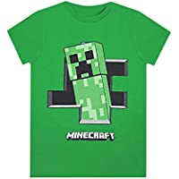 Official Minecraft Creeper Inside Boys Green Short Sleeve Gamers T-Shirt