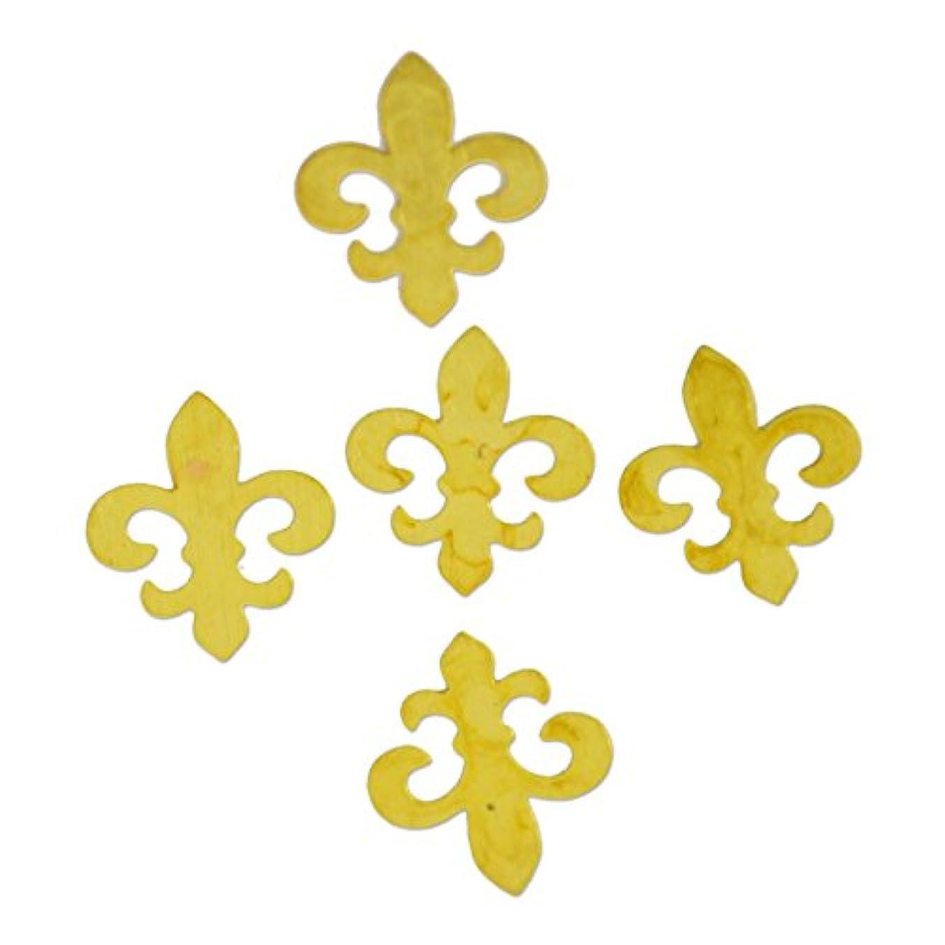 社会学戦士クーポン薄型メタルパーツ10048 百合の紋章 リリィ5mm×6mm ゴールド 20p入り