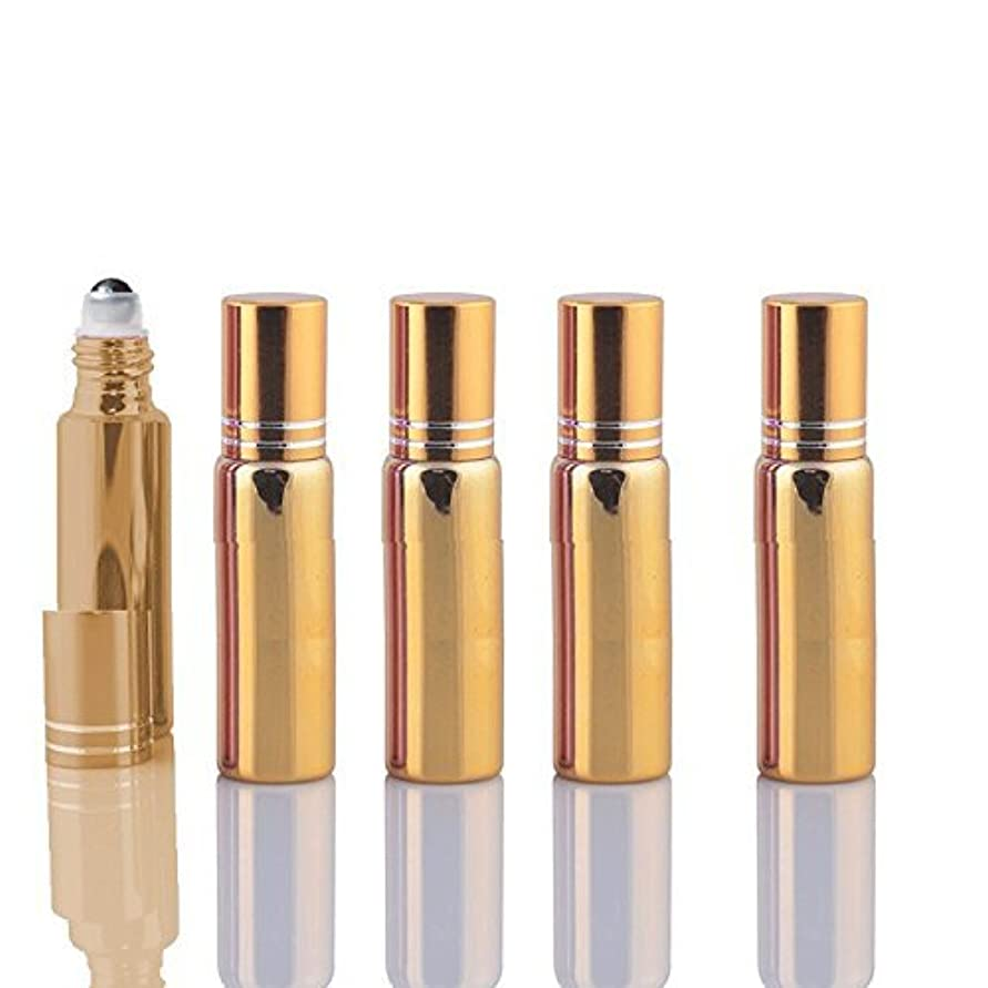 10 Sets Colored 5ml UV Coated Glass Roller Ball Refillable Rollon Bottles Grand Parfums with Stainless Steel Rollers...