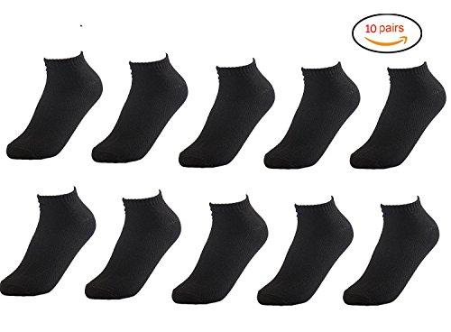 メンズ靴下ショートソックス くるぶし アンクルソックス 10足セット (ブラック )