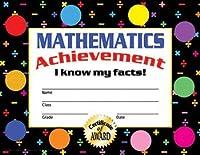 HAYES SCHOOL PUBLISHING VA811 Mathematics Achievement Stick-To-It Award Certificate 8-1/2 x 11 Size 0.25 Height 8.5 Width 11 Length (Pack of 30) [並行輸入品]