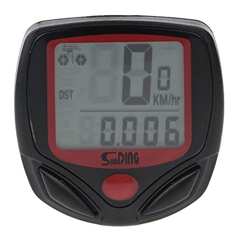 測る木製拍手走行距離計 走行時間計 機能自転車LCD 防水 サイクルメーター サイクルコンピューター スピードメーター 14功能