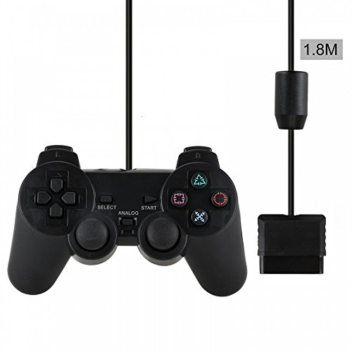 紅葉の屋 PlayStation 2専用コントローラー 1.8m 有線コントローラー ブラック