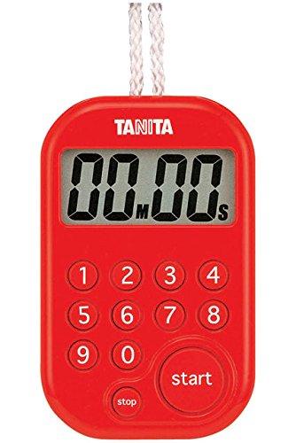 タニタ デジタルタイマー100分計 レッド TD-379-RD