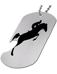 英語Horseジャンパ – ボトルOpener犬タグネックレス