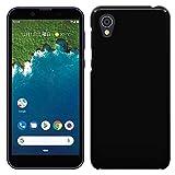 Android One S5 ケース SHARP アンドロイドワン S5 カバー (Ymobile/Softbank 兼用) ハードケース スマホケース ポリカーボネイト 液晶保護フィルム付 全機種対応 ★BLACK 「Breeze」