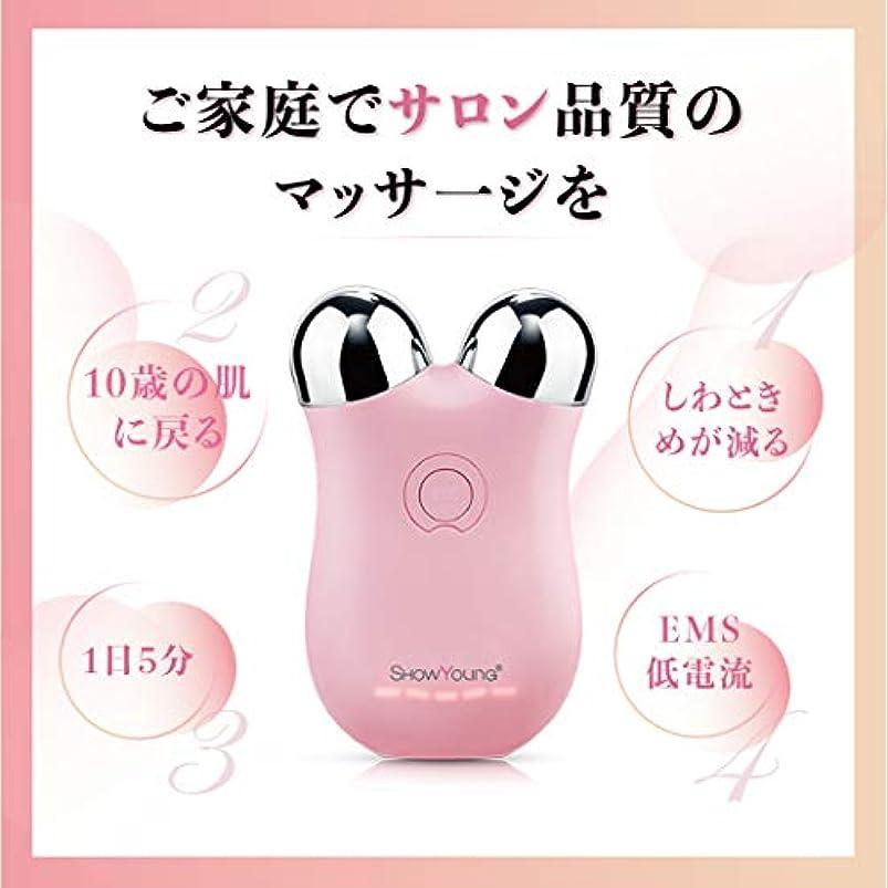 ポーチあご願うShowyoung 微小電流ミニ顔マッサージ器、顔の調色装置、しわと細紋の減少、皮膚、リンパのマッサージ、調整の質、2年の品質の保証に用いる。