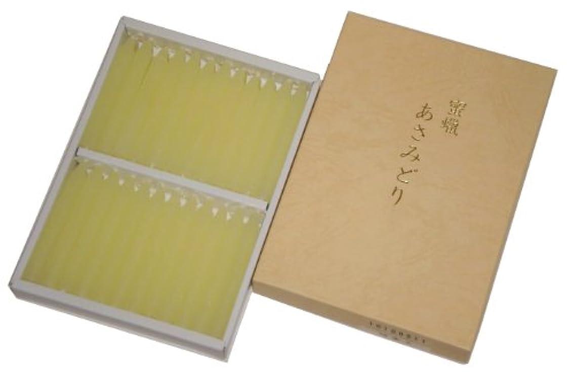 名前レジうぬぼれ鳥居のローソク 蜜蝋 あさみどり 太ダルマ48本入 印刷箱 #100511