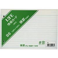 ライフ 情報カード 目盛付 B6 J852