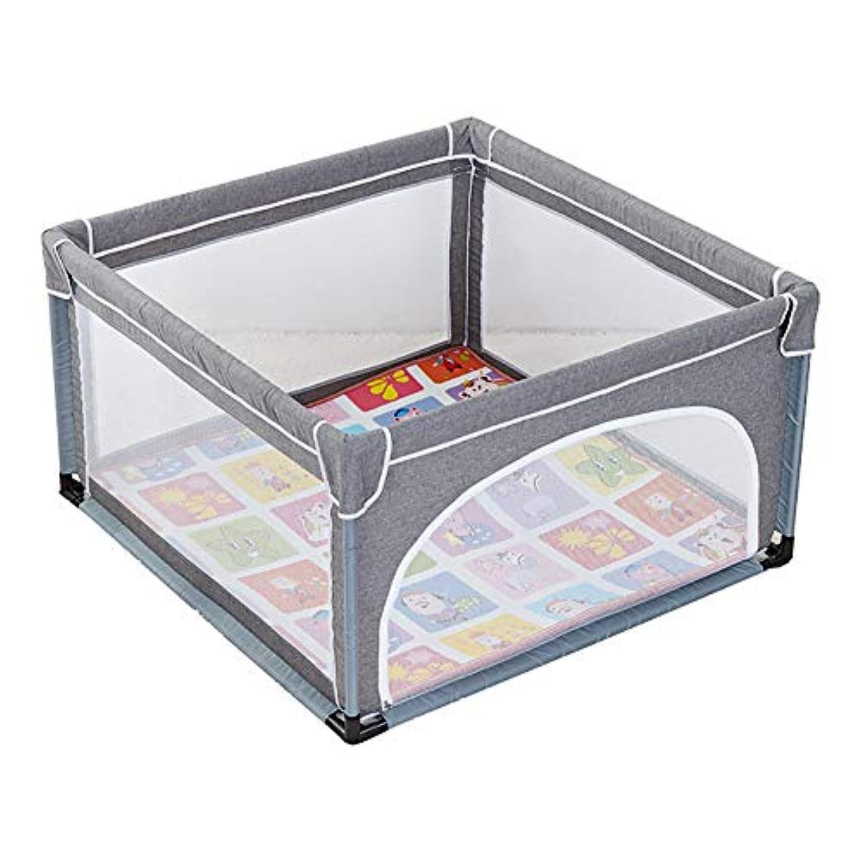 幼児の遊び場の安全性クッションの安全性を備えた大型ベイビープレイペンアンチコリジョンコーナーキッズ遊びゲームフェンス (サイズ さいず : 120×120cm)