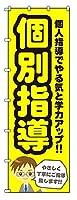 のぼりらんど 防炎のぼり旗 個別指導 H2700mm×W900mm ※受注生産品