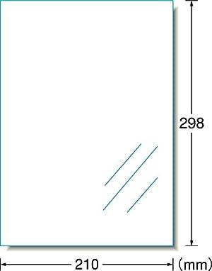 エーワン A-one ラミネート UVカット透明カバーフィルム 空気が抜けるタイプ 6枚 A4 35045