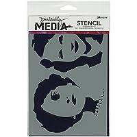 "Dina Wakley Media Stencils 6""X9""-Stenciled Women (並行輸入品)"