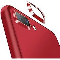 【2枚セット】ElekFX 高品質iPhone8Plusカメラレンズ保護リング iPhone7Plusレンズガード アルミ 合金素材 傷防止 高級感あり アイフォン8/7プラス対応(レッド)