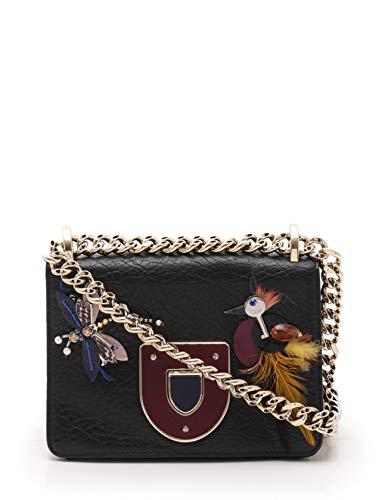 (クリスチャンディオール) Christian Dior ディオラマ チェーンショルダーバッグ レザー 黒 ビジュー 中古