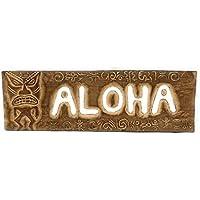 """ Aloha "" Tiki Sign W / Petroglyph–サーフ装飾"
