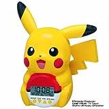 SEIKO CLOCK (セイコークロック) 目覚まし時計 ポケットモンスター ピカチュウ キャラクター型 おしゃべりアラーム デジタル JF373A