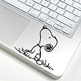 スヌーピー snoopy アートステッカー Macbook/ipad等 トラックパッド対応 PCスキンシール wsb80 [並行輸入品] Macbookステッカー
