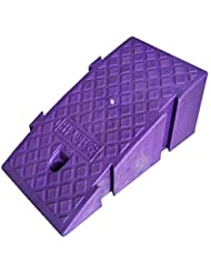 オートバイのスロープマット、プラスチックスプライス可能な車椅子傾斜の世帯のステップ傾斜パッドバー駐車場入口サービス傾斜高さ:16CM / 19CM (Color : Purple, Size : 25*40*16CM)