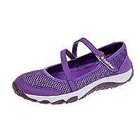 [EKENL] ママシューズ 安全靴 ウオーキングシューズ レディーズ 婦人靴 上履き 中高齢者靴 通気 マジックテープ フラット お年寄りシューズ 滑りにくい 歩きやすい ナースシューズ 運動靴 メッシュ 軽量