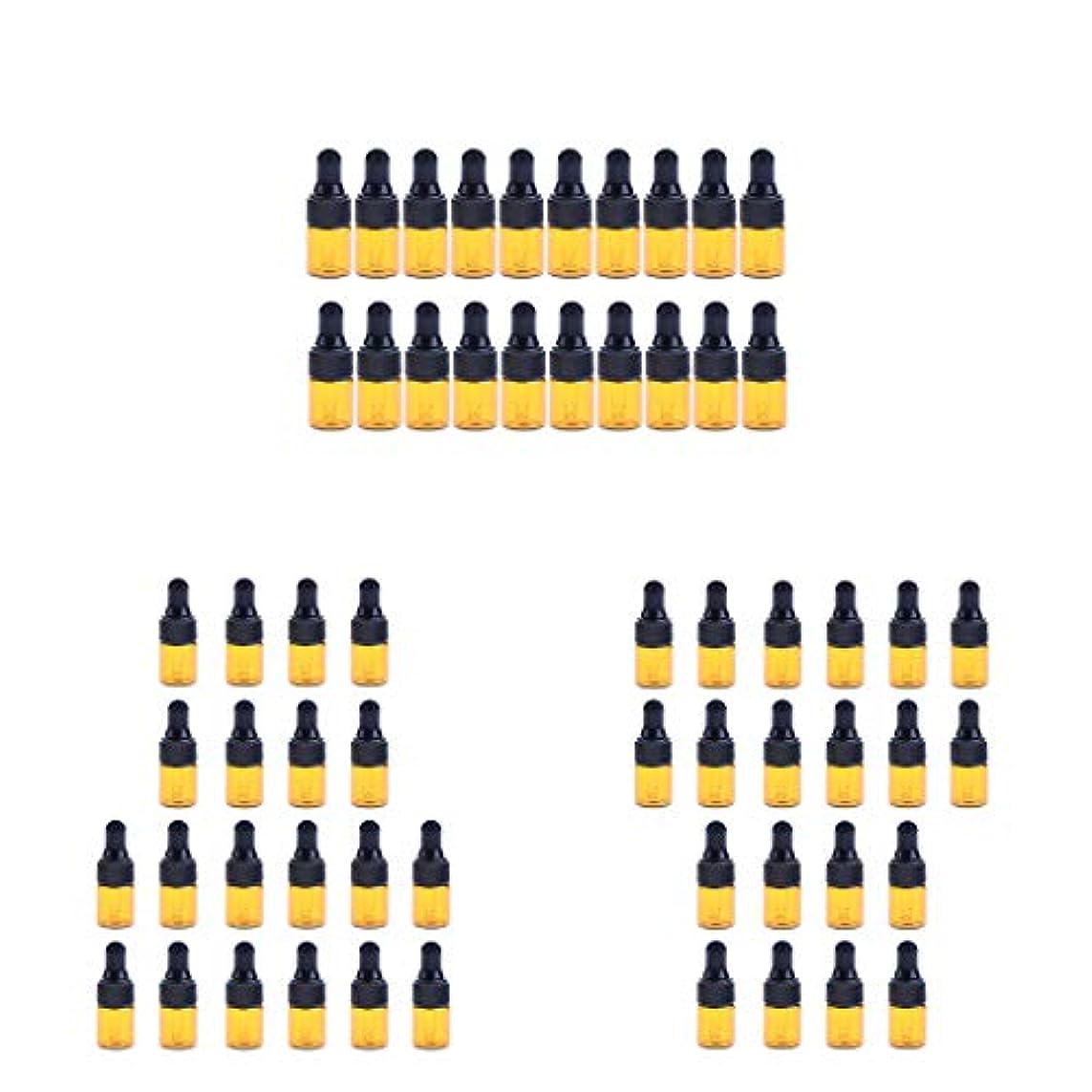 ロッジ専門用語振り向くdailymall エッセンシャルオイル ボトル ガラス ドロッパーボトル 3 Ml 約60ピースセット