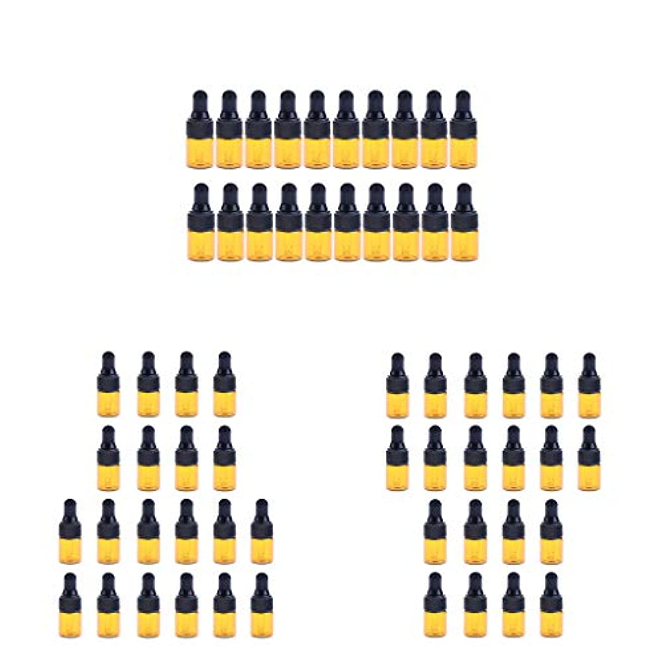 旋律的然としたコレクションdailymall エッセンシャルオイル ボトル ガラス ドロッパーボトル 3 Ml 約60ピースセット