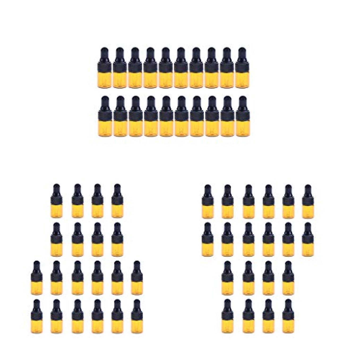 オンス禁止する国民投票Hellery エッセンシャルオイル ボトル ガラスボトル スポイト 茶色 遮光ボトル 精油ボトル