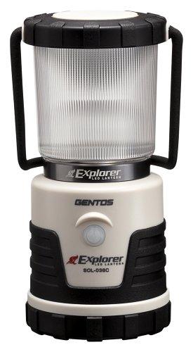 ジェントス LEDランタン エクスプローラー ライトモカ 【明るさ380ルーメン/実用点灯14時間】 SOL-036C