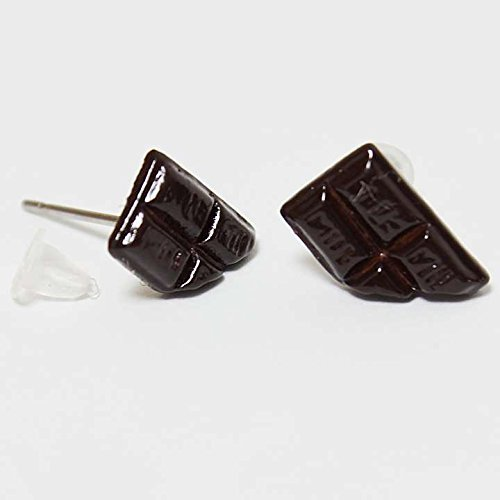 スイーツ チョコレート 樹脂キャッチ両耳ピアス