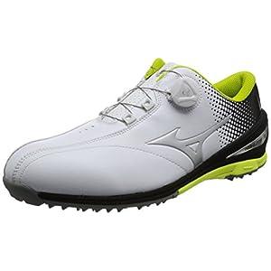 [ミズノ ゴルフ] ゴルフシューズ ネクスライト 004 ボア 91ホワイト×ブラック 26.5 3E (現行モデル)