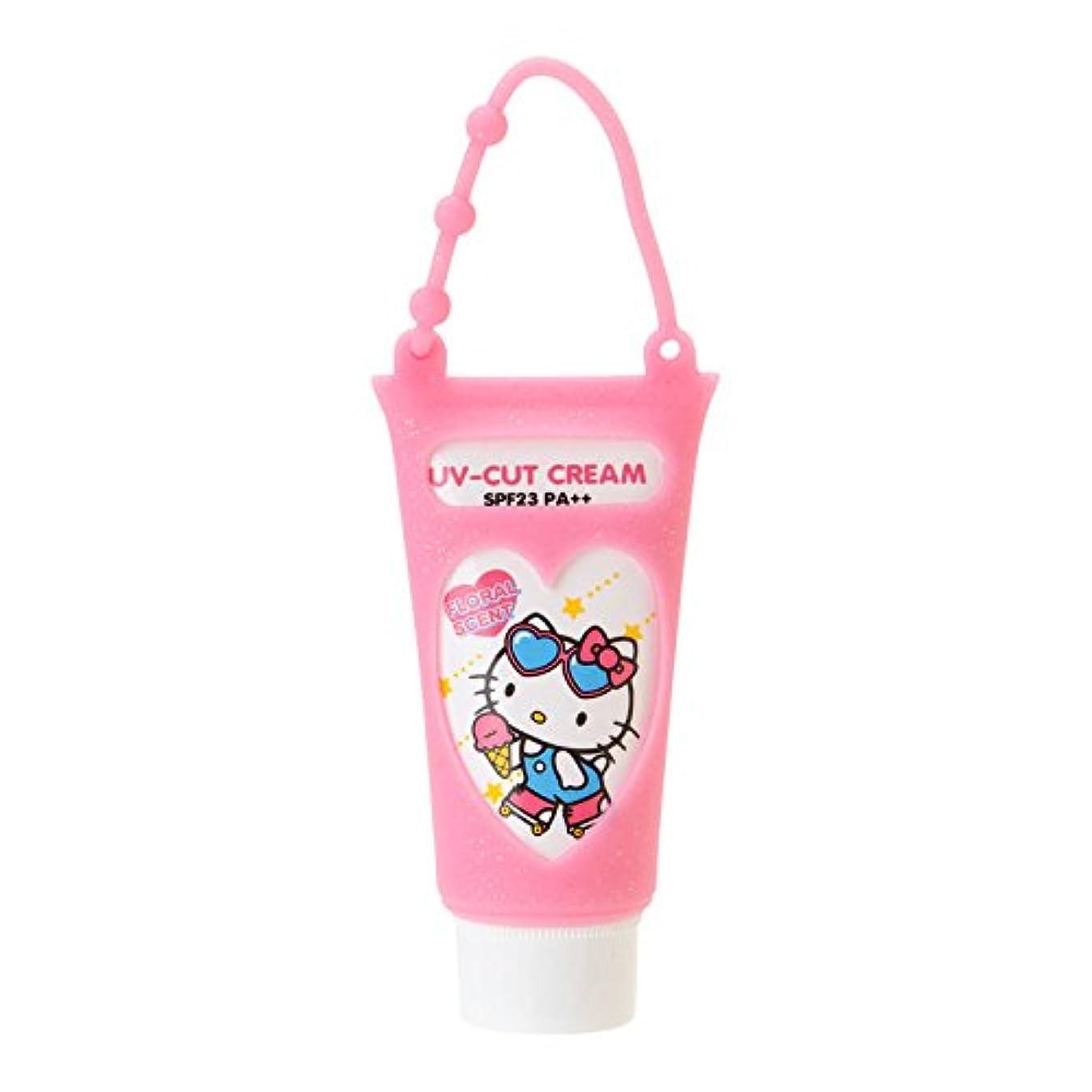 詐欺師正しいふさわしいハローキティ 携帯UVクリーム(フローラルの香り)
