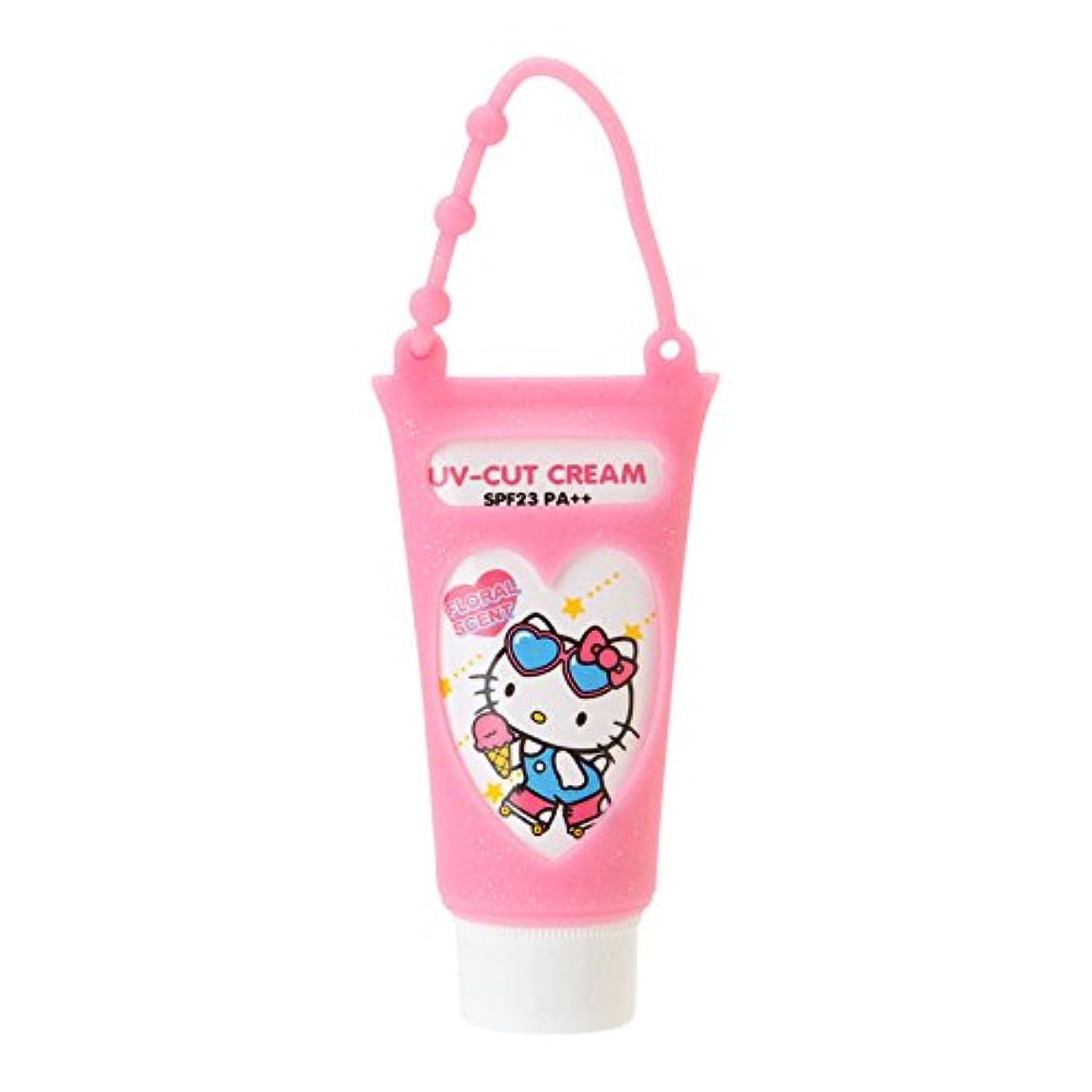 タウポ湖思慮のないコマースハローキティ 携帯UVクリーム(フローラルの香り)