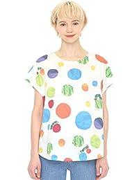 (グラニフ) graniph コラボレーション レディース Tシャツ ランダムドット (エリックカール) (ホワイト) レディース