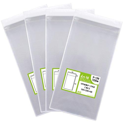 [해외]국산 테이프 부착 길이 3 A4 용지 3 성급 접어 용 투명 OPP 봉투 (투명 봉투) 400 매 30 미크론 두께 (표준) 120x235 + 30mm/Domestic production tape length 3 A4 paper 3 fold transparent OPP bag (transparent envelope) 400 sheets 30 micron ...