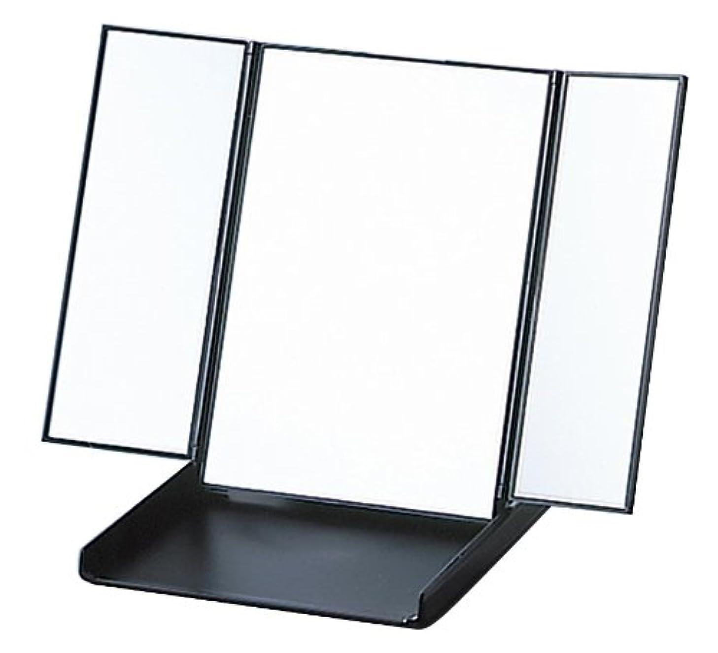 相対性理論獣食堂三面コンパクト ビブレウィングミラー ブラック Y-1573