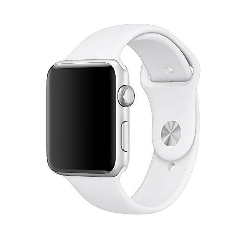 Apple Watch バンド、XMDirect スポーツバンド シリコーン 全機種対応 for Apple Watch Series 1 / Series 2 / Nike+ 【38mm、ホワイト、S/M & M/L】